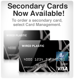 Add a secondary card to your Wired Plastic account